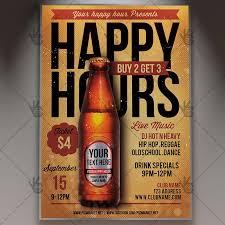 Happy Hour Flyer Happy Hours Premium Flyer Psd Template