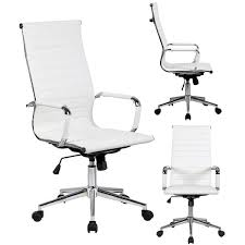 modern executive office chairs. Contemporary Executive 2xhome White Executive Ergonomic High Back Modern Office Chair Ribbed PU  Leather Swivel For Manager Conference For Chairs