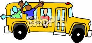 school window clipart. Kids Hanging Out A School Bus Window Clipart Image L