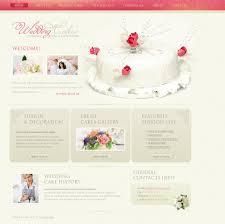 Wedding Cake Website Template 27299