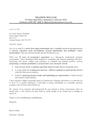 Executive Professional Cover Letter Sample Executive Cover Letter Sharon  Miller ...