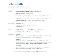 Resume Examples In Word Creative Design Simple Resume Format In Word ...