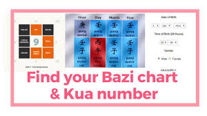 How To Find Out Your Ba Zi Chart Four Pillar Chart And Kua Gua Number