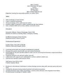 Heart Failure Nurse Sample Resume