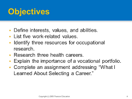 Vocational Careers List Finding The Right Occupation For Your Ppt Download