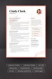 Cindy Clark Resume Template Design Inspiration Simple Resume