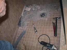 replacing tile shower floor designs removing
