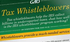 U S Gao Irs Whistleblower Program Billions Collected
