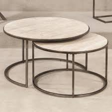 image of wood round nesting tables