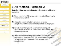 Star Format Resume