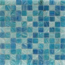 blue tiles. Aquatic Sky Blue 1x1 Squares Glass Tiles /