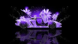 lamborghini aventador fantasy flowers car