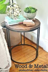 round metal coffee table round wood metal coffee table collection industrial side table industrial metal industrial
