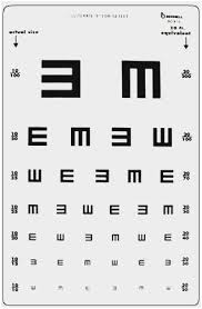 Exact Size Of Snellen Chart What Font Is Used For Eye Chart