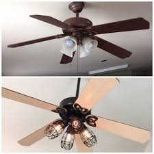 thrifty ceiling fans diy ceiling fan makeover add cage bulb guards andedison bulbs ceiling fans diy ceiling fan makeover add cage bulb ceiling fans ideas