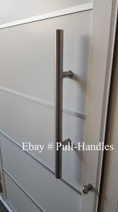 details about pull long door handle entry modern pulls 24 stainless steel glass front