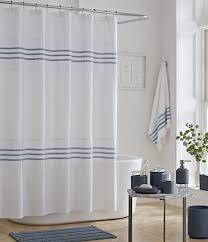 oscar oliver lulu fringed striped shower curtain