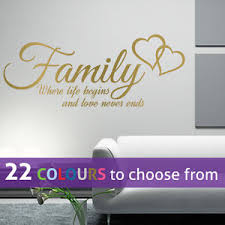 image is loading family where life begins and love never ends  on wall art words with family where life begins and love never ends quote wall art sticker