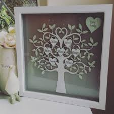 Box Picture Frame Box Frame Family Tree Silver
