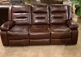 braxton genuine leather reclining sofa and love with console dream rooms furniture