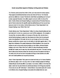 social and political aspects in kipling s writing style and  page 1 zoom in