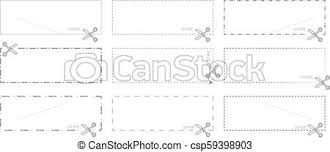 Dotted Line Template Vector Coupon Template With Cut Out Dashed Or Dotted Lines And