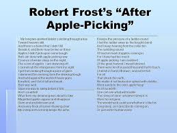 archetypal imagery a look at robert frost by roxanne orpin ppt robert frost s after apple picking my long two pointed ladder s sticking through a tree