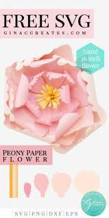 Free download beginning in 3 seconds. Peony Giant Paper Flower Free Svg Cut File Gina C Creates