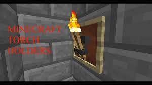 minecraft torch holder tutorial