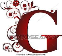 letter g stock illustration of capital letter g red k6677816 search clip
