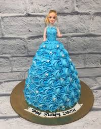 Barbie Doll Theme Cake Birthday Cake For Daughter Blue Theme