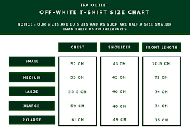 Off White T Shirt Sizing Chart Feeling Inspired Beads