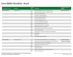 creating a checklist 5 create checklist in excel pdf