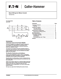 basic wiring for motor control technical data guide eep basic wiring for motor contol