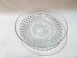large round cut glass bowl shallow bowl serving bowl glass centerpiece bowl