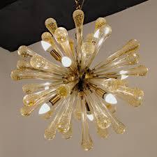 midcentury sputnik chandelier baloton gold rods alberto dona 1990s for camer glass