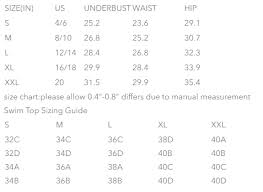25 Disclosed Bathing Suit Bottom Size Chart