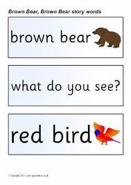 Brown Bear Brown Bear What Do You See Words Brown Bear Brown Bear Teaching Resources Story Sack Printables