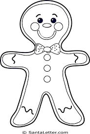 Christmas Gingerbread Man Coloring Pages Gods Unbelievable