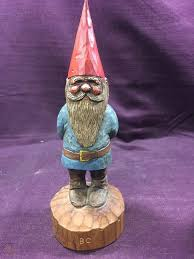 wood carving tomte garden gnomes