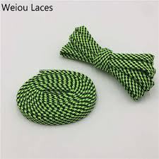 Online Shop Weiou Double Layer Striped Shoelaces <b>0.7cm</b> Width ...