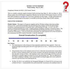 Sample Weekly Status Report Template 5 Free Sample Weekly Report Template To Management How To Wiki