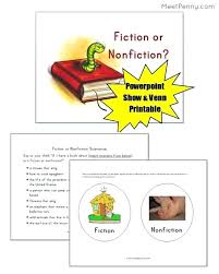 Fiction Vs Nonfiction Venn Diagram A Complete Package With Diagram And Activity For Free Fiction Vs