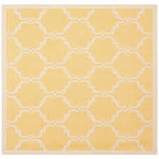 safavieh courtyard yellow beige 5 ft x 5 ft indoor outdoor square