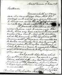 a letter from george washington to washington academy shenandoah gwash letter