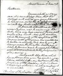 a letter from george washington to washington academy shenandoah gwash letter
