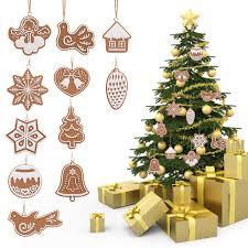 Großhandel 11 Stücke Cartoon Tier Schneeflocke Kekse Hängen Christbaumschmuck Ornament Handgemachte Polymer Clay Ornamente Für Haus Y18102609 Von
