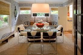 glass dining room table ideas. dinning rooms:dining room decor idea with glass dining table and fluffy chairs ideas