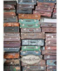 Old Suitcases Vintage Suitcases Vinyl Photography Backdrop