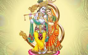 Radha Krishna Abstract Wallpaper